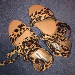 Steve Madden Reputation Sandals Leopard Print
